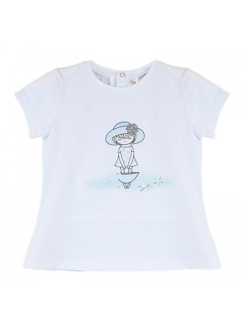 Babybol Set 3 piese fete tricou & pantalon scurt& bandana, navy 3