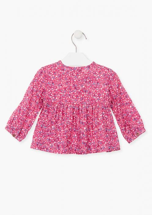 Bluza bebe fetita, imprimeu floral,roz Losan 1
