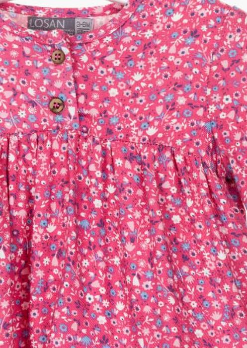 Bluza bebe fetita, imprimeu floral,roz Losan 2
