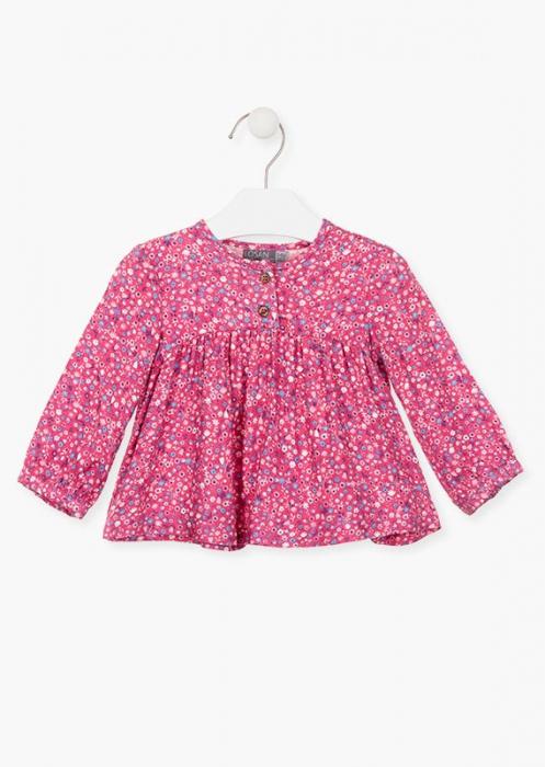 Bluza bebe fetita, imprimeu floral,roz Losan 0