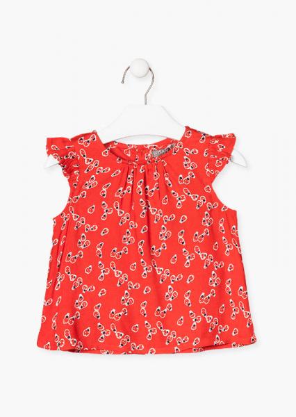 Bluza fete ms imprimeu gargarite, rosie 0