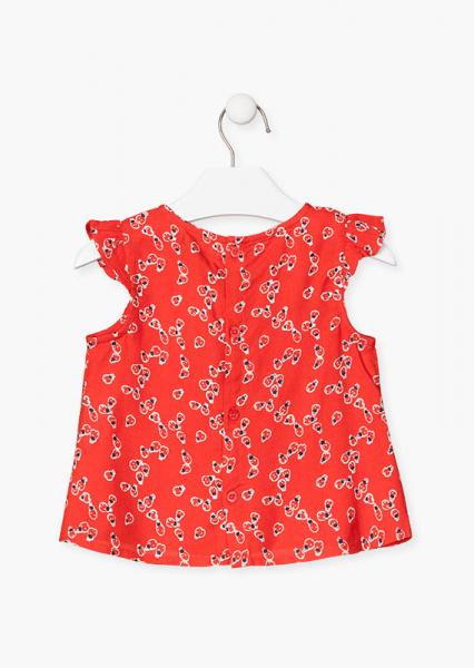 Bluza fete ms imprimeu gargarite, rosie 1