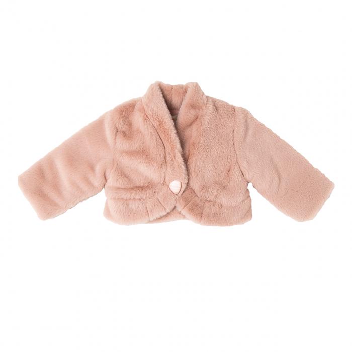 Bolero fete elegant blanita, roz pudra, Babybol 0