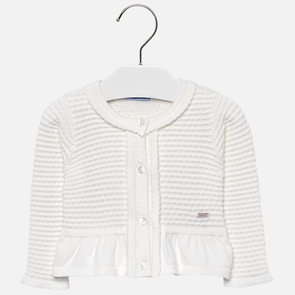Bolero tricotat fete Mayoral ivoire 0
