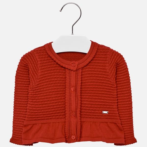 Bolero tricotat fete Mayoral rosu 0