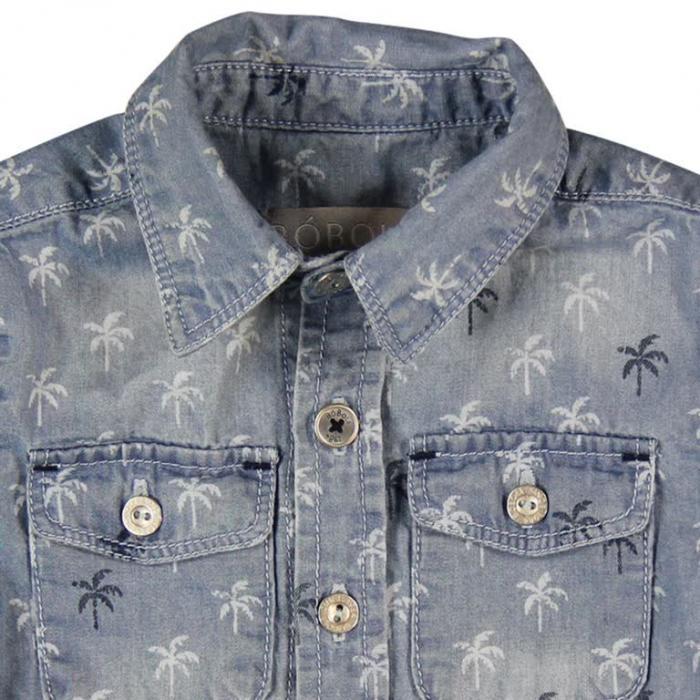 Camasa jeans cu palmieri Boboli 2