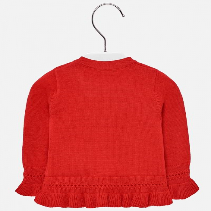 Cardigan din tricot cu fundita fete Mayoral rosu [1]