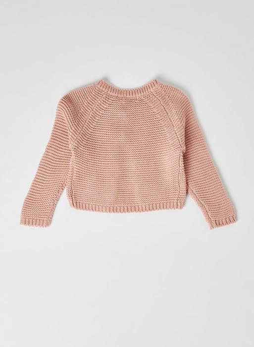Cardigan fete roz tricotat , Babybol 1