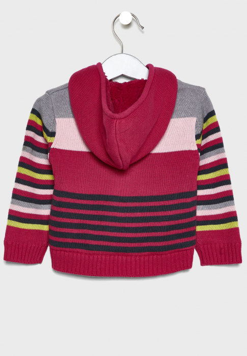 Cardigan tricot fete imblanit , multicolor,Babybol 1
