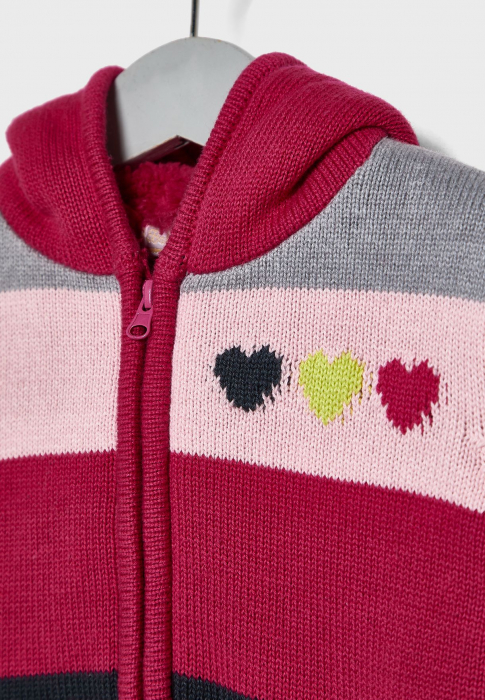 Cardigan tricot fete imblanit , multicolor,Babybol 2