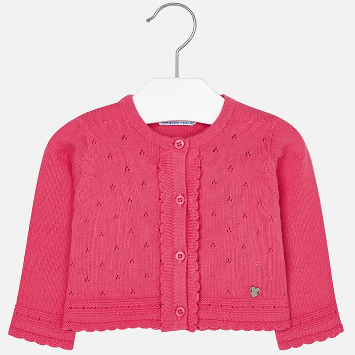 Cardigan tricotat fete , roz, Mayoral 0