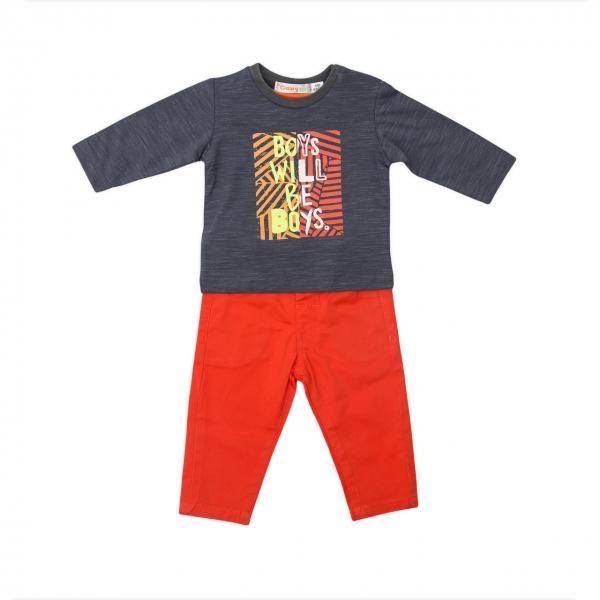 Compleu baieti tricou si pantaloni Babybol [0]