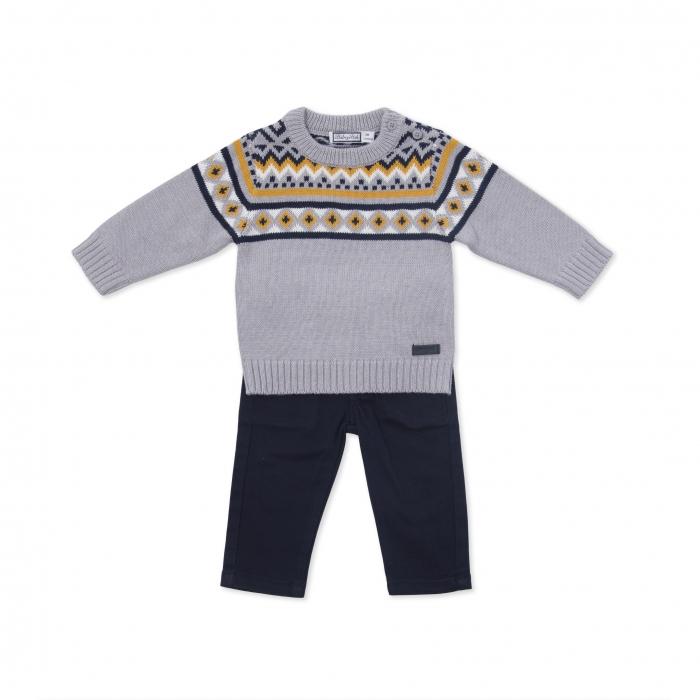 Compleu pulover si pantalon Babybol 0