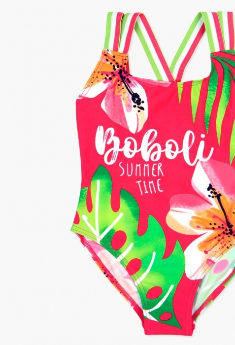 Costum baie fete intreg, imprimeu floral , Boboli 1