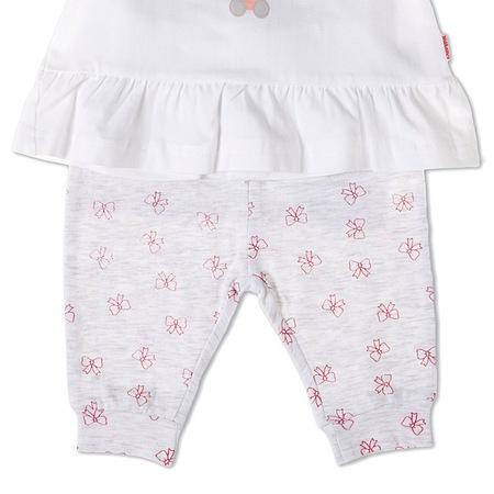 Costumas 2 piese bebe fetita, imprimeu iepuras, Babybol [1]