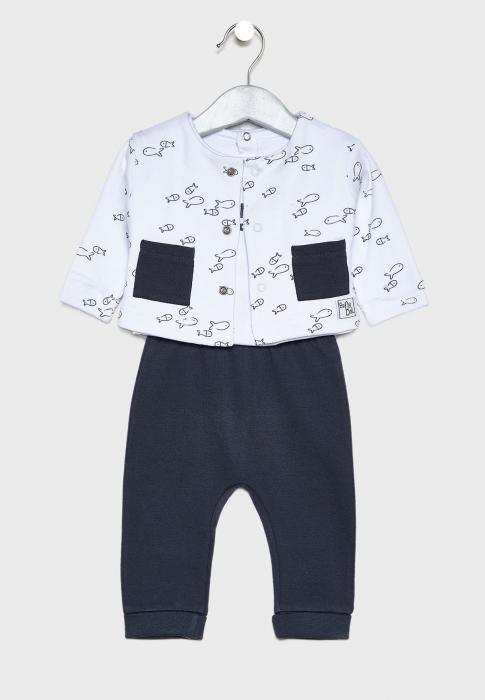 Costumas bebe 3 piese, imprimeu pestisori, Babybol [0]