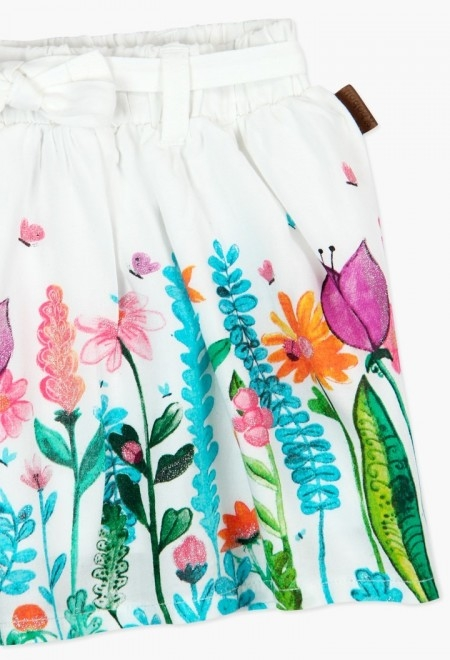Fusta fete imprimeu floral, Boboli 3