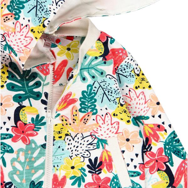 Hanorac fete cu gluga, imprimeu floral multicolor, Boboli 2
