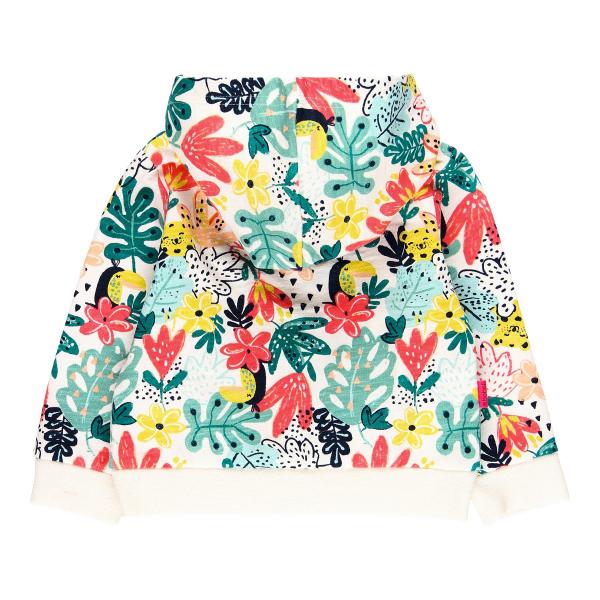 Hanorac fete cu gluga, imprimeu floral multicolor, Boboli 1