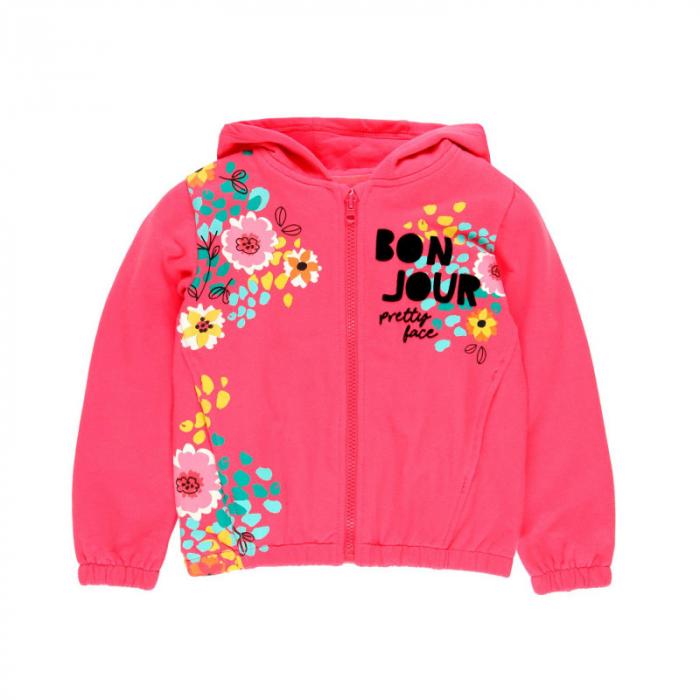 Hanorac fete , imprimeu floral, fucsia, Boboli 0