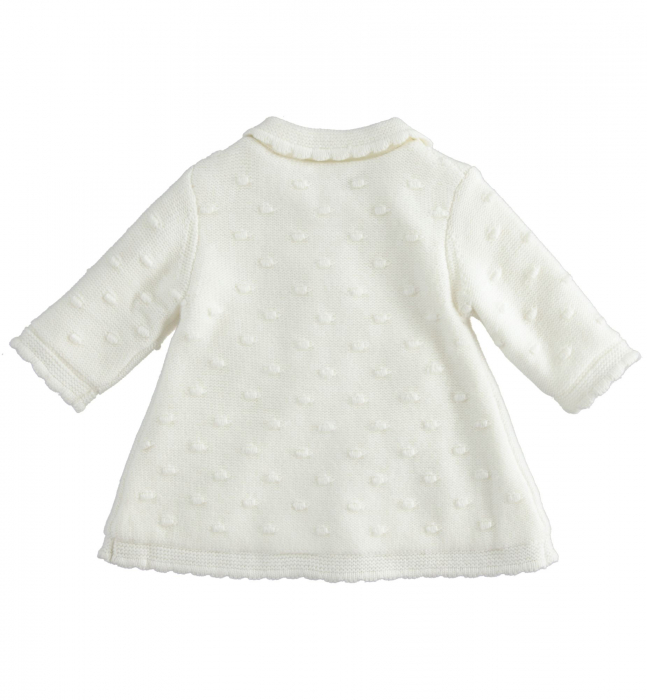 iDO Palton tricotat, captusit cu blanita, crem, 0-18 luni 1