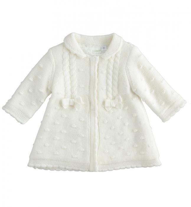 iDO Palton tricotat, captusit cu blanita, crem, 0-18 luni 0