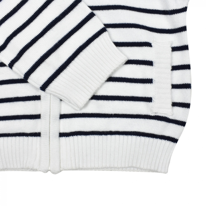 Jacheta tricot baiat cu dungi bleumarin, Babybol [3]