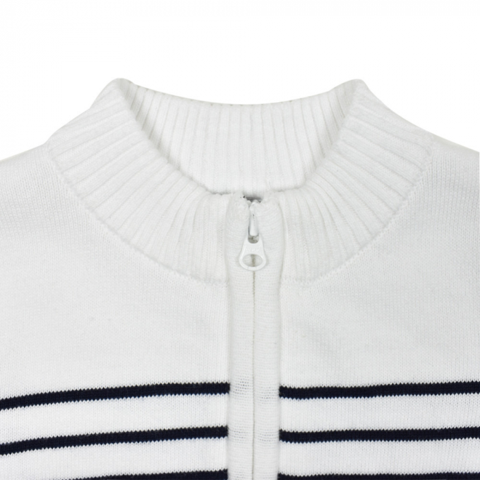 Jacheta tricot baiat cu dungi bleumarin, Babybol [2]