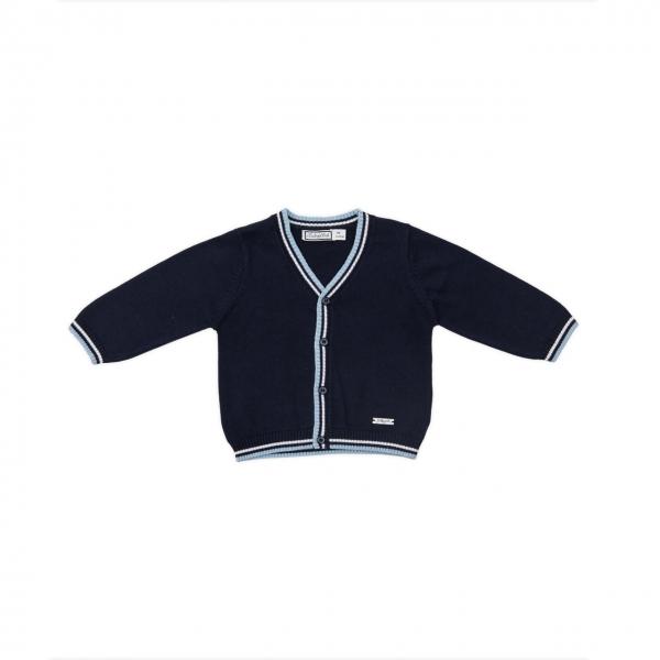 Jacheta tricot baiat navy Babybol 0