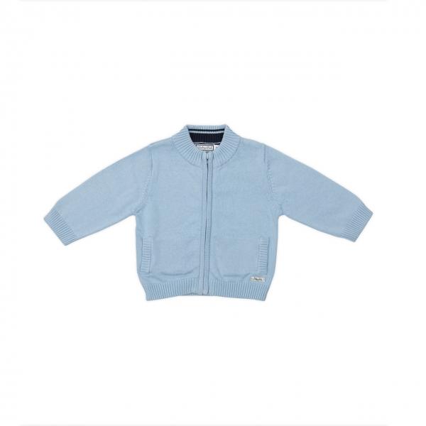 Jacheta tricot baieti Babybol bleu 0