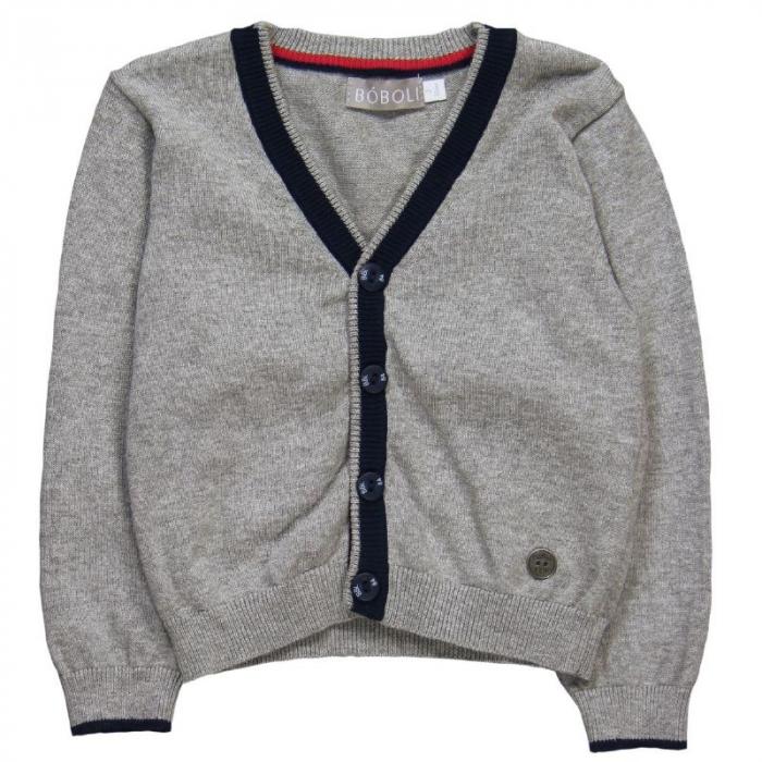 Jacheta tricot baieti , gri ,Boboli 0