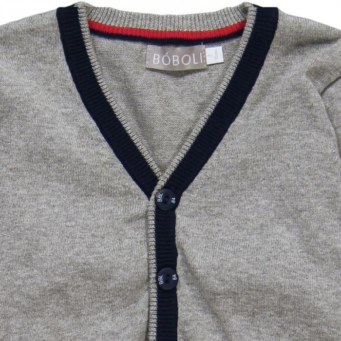 Jacheta tricot baieti , gri ,Boboli 2