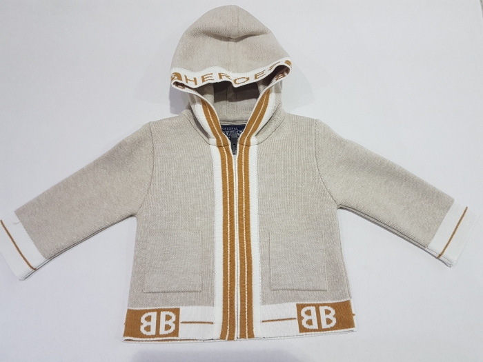 Jacheta tricot bebe băiat bej 0