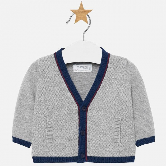 Jacheta tricot tip cardigan bebe baiat, gri , Mayoral [0]