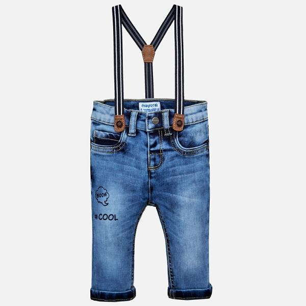 Jeans baiat cu bretele Mayoral 0