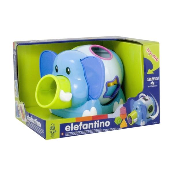 Jucarie Bebe Elefantino - 12-24 luni, Miniland 1