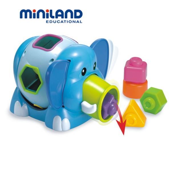 Jucarie Bebe Elefantino - 12-24 luni, Miniland 0