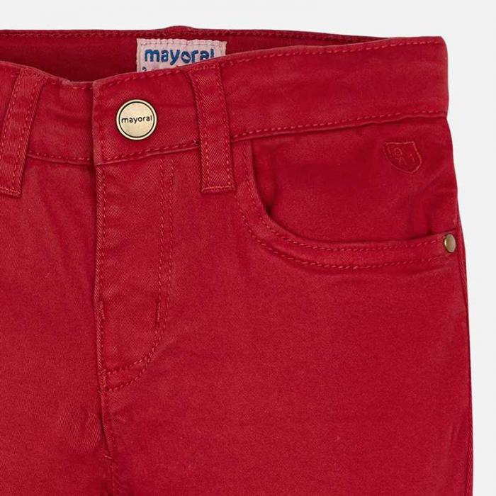 Mayoral Pantaloni baieti regular fit, rosii 3