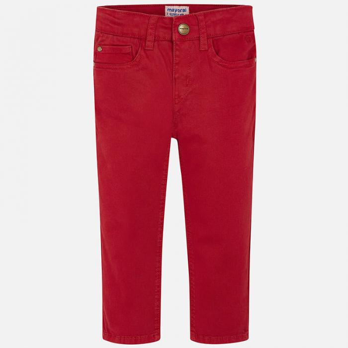 Mayoral Pantaloni baieti regular fit, rosii 1