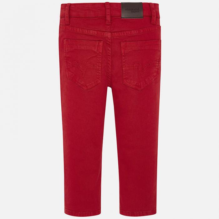 Mayoral Pantaloni baieti regular fit, rosii 2