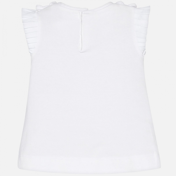 Mayoral - Tricou fete maneca scurta, alb, 6-36 luni 1
