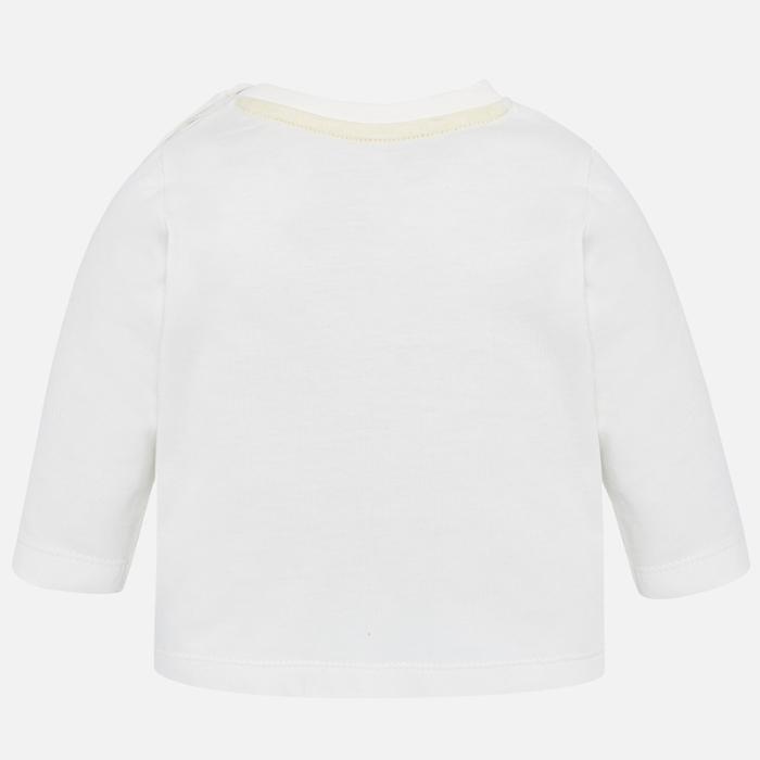 Mayoral Tricou maneca lunga, imprimeu catel, alb [1]