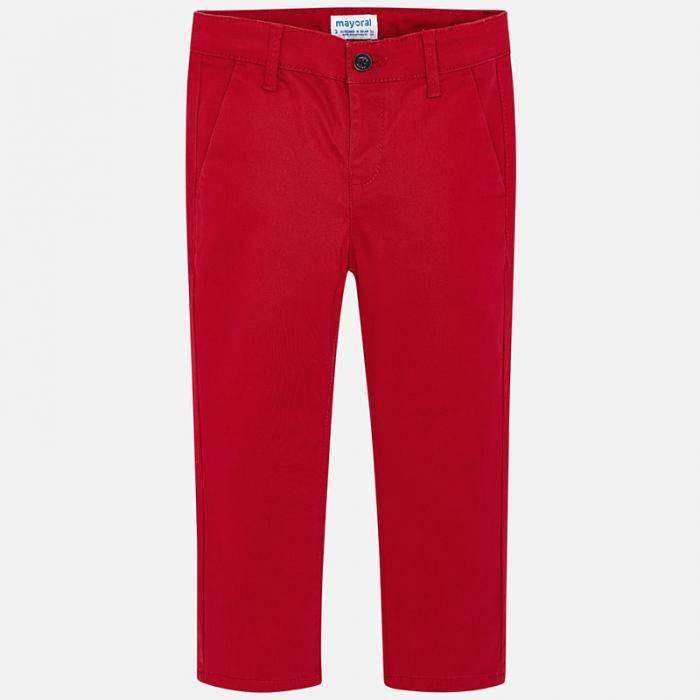 Pantalon baieti Mayoral, chino slim, rosu 1