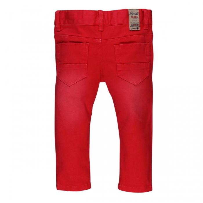 Pantaloni lungi slim fit bebe baiat, rosu 1