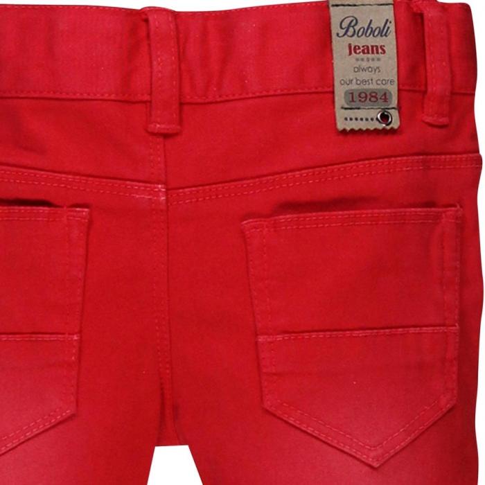 Pantaloni lungi slim fit bebe baiat, rosu 2