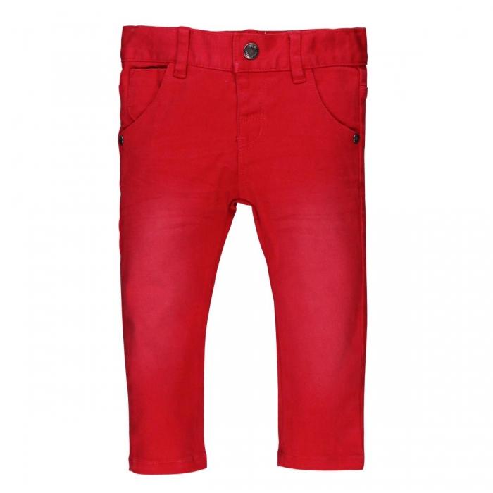 Pantaloni lungi slim fit bebe baiat, rosu 0