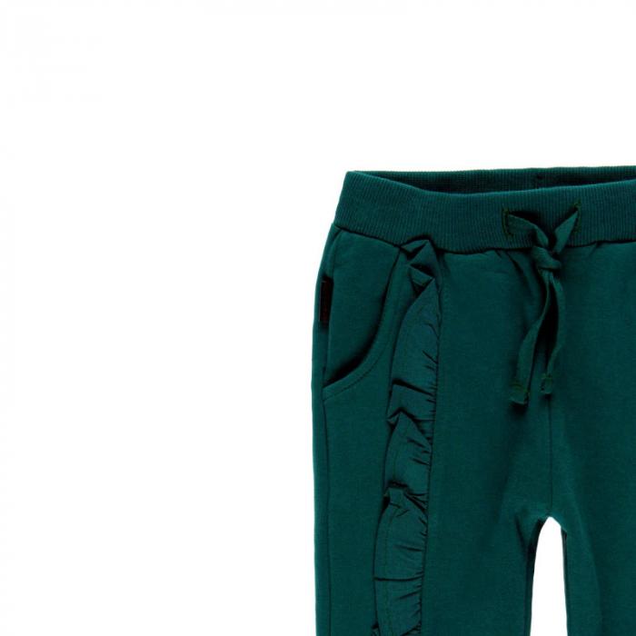 Pantalon bumbac fete 2-6ani , verde , Boboli [2]