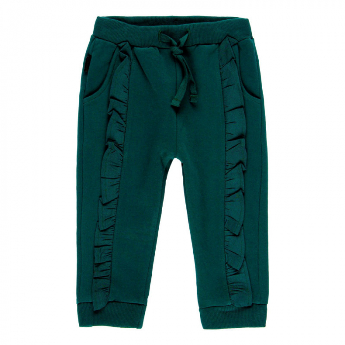 Pantalon bumbac fete 2-6ani , verde , Boboli [0]