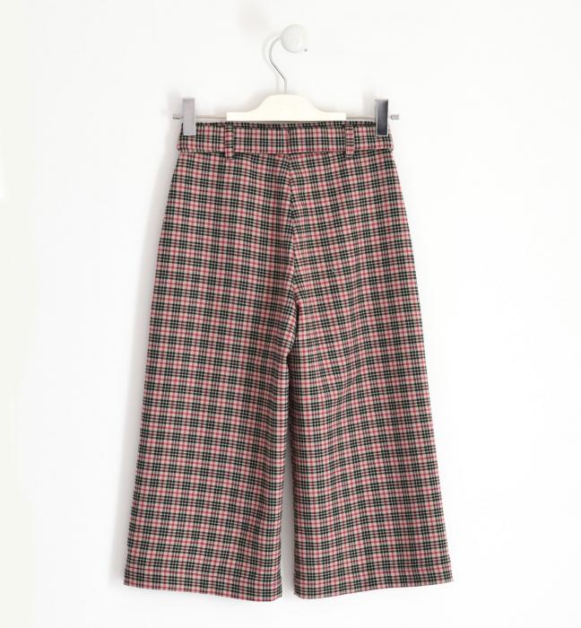 Pantalon fete 3/4 stofa, carouri fine, iDO 1