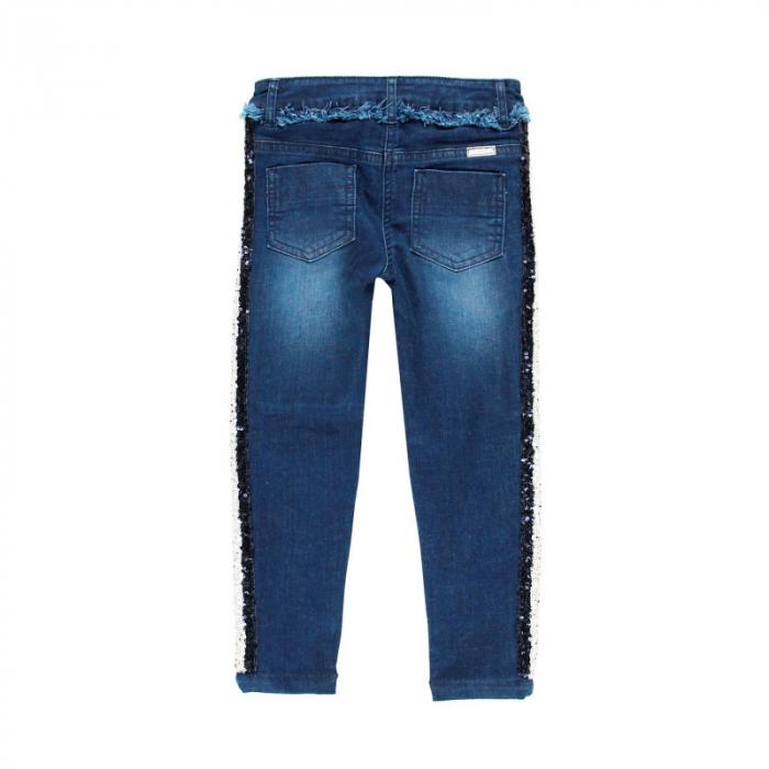 Pantalon jeans fete 8-16 ani cu strasuri , Boboli 1